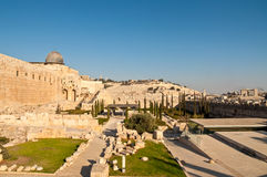 Mt of Olives from Temple mount Royalty Free Stock Photos