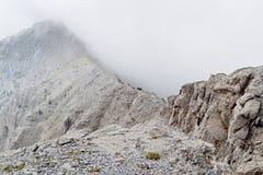 Mt. Olympus in Grecia. ?Laimos? che passa fotografia stock libera da diritti