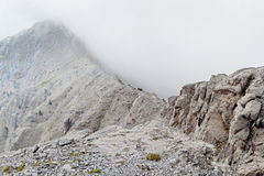 Mt. Olympus in Greece. 'Laimos' passing Royalty Free Stock Photo