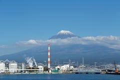 Mt Opinión de Fuji del puerto de los pescados foto de archivo libre de regalías
