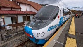 Mt peint par train fuji photo libre de droits