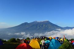 Mt Penanggungan, indonesia Arkivfoto