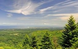 Mt Più piovoso, oceano Pacifico e paesaggio della montagna Fotografie Stock