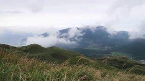Mt Pico principal de Qixing en el parque nacional de Yangmingshan almacen de video