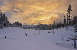 Mt Piekarniany narciarski teren obrazy stock