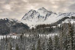 Mt Piekarniany Narciarski teren zdjęcie stock