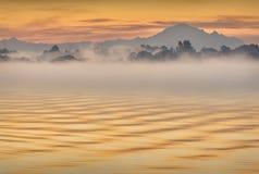 Mt Piekarz, Fraser rzeka Zdjęcia Royalty Free