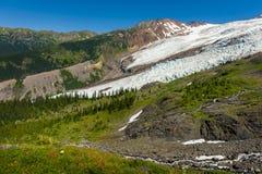 Mt Piekarz i Coleman lodowiec obraz stock
