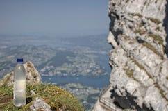 Mt Pilatus популярное туристское назначение в европейской стране Швейцарии стоковое изображение rf