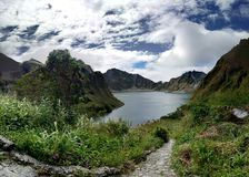 Mt. Pinatubo Crater. Which is called Pinatubo Lake, Philippines Stock Photos