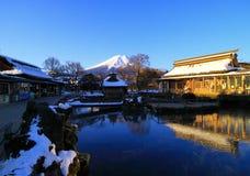 Mt Pleno inverno do amanhecer de Fuji fotografia de stock