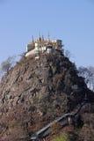 Mt Popa Royaltyfria Foton