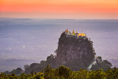 Mt. Popa in Burma Royalty Free Stock Photo