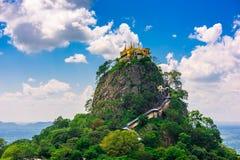 Mt Popa i Myanmar arkivbild
