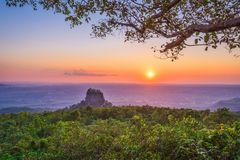 Mt Popa, Myanmar image stock