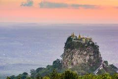 Mt. Popa of Myanmar Royalty Free Stock Photos
