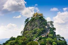 Mt. Popa in Myanmar. Taung Kalat Monastery on Mt. Popa, Myanmar stock images