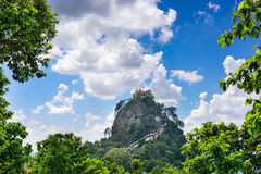 Mt. Popa in Myanmar Royalty Free Stock Images