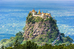 Mt. Popa in Myanmar Royalty Free Stock Photo