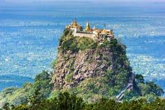 Mt. Popa in Myanmar Royalty Free Stock Photo