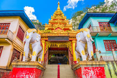 Mt. Popa Temple. Entrance to Taung Kalat Monastery on Mt. Popa, Myanmar Royalty Free Stock Image