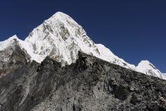 Mt Pumori • Himalayas. Seven thousand meter mountain Pumori near Mt Everest. Khumbu valley, Himalayas, Nepal royalty free stock images