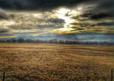 Mt Różany zmierzch od Reno Zdjęcie Royalty Free