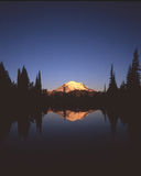 Mt. Rainier. At sunrise stock photography