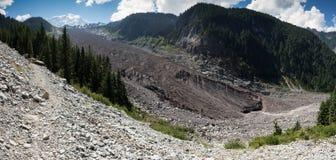 Mt. Rainier Carbon Glacier Royaltyfri Foto