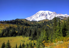 Mt. Rainier. Clear day in early fall on Mt. Rainier Stock Image