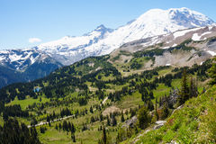 Mt Rainier. Hiking in Mount Rainier National Park in Washington Royalty Free Stock Photography