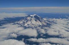 Mt. Rainier. Pacific Northwest aerial view of Mt. Rainier, Washington Royalty Free Stock Photo