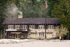 Mt Rainier Park Headquarters Winter Stock Photo
