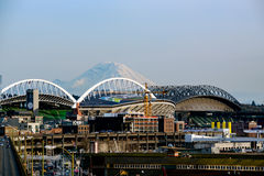 Mt. Rainier from Seattle Stock Images