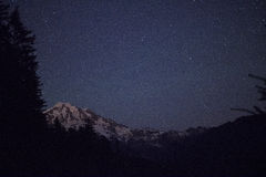 Mt Rainier Stars Imagens de Stock Royalty Free
