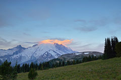 Mt. Rainier Sunrise Royalty Free Stock Photo