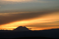 Mt Rainier Sunset Royalty Free Stock Images