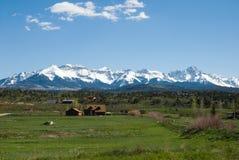 Mt Range. San Juan Range near Ridgway, Colorado in  May Stock Photos