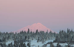 Mt. Redoubt at sunrise Stock Photos