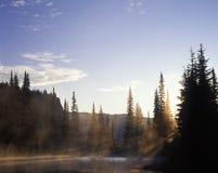 Mt. Regenachtiger Nationaal Park van het meer Stock Afbeeldingen