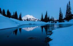 MT Regenachtiger, Tipsoo-Meer, Washington State royalty-vrije stock foto's