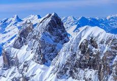 Mt Reissend Nollen, vista dal Mt Titlis Fotografia Stock Libera da Diritti