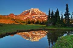 Mt. Riflessioni più piovose Fotografia Stock Libera da Diritti