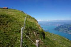 Mt Rigi Kulm, alpi svizzere Fotografie Stock