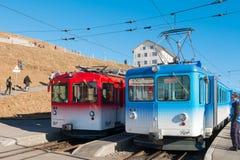 Mt Rigi, Luzern, Швейцария - поезда 29-ое декабря 2016 на Rigi Стоковое Фото