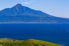 Mt Rishiri od północy Fotografia Stock