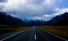 Mt. Road to Mt Cook royalty free stock photo