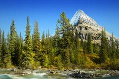 Mt Robson - парк Robson держателя захолустный, канадские скалистые горы Стоковое фото RF