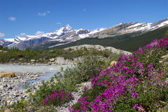 Mt. Robson Provincial Park A. Mt. Robson Provincial Park in the Canadian Rockies in British Columbia Stock Photo