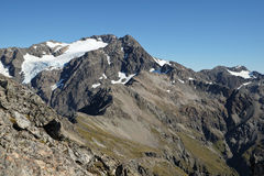 Mt. Rolleston Viewed From Avalanche Peak. Royalty Free Stock Images
